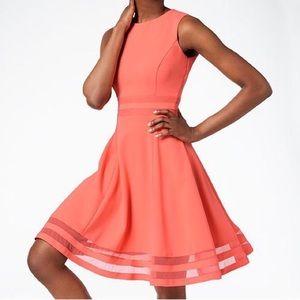 NWT Calvin Klein Fit & Flare Cutout Dress Stretch